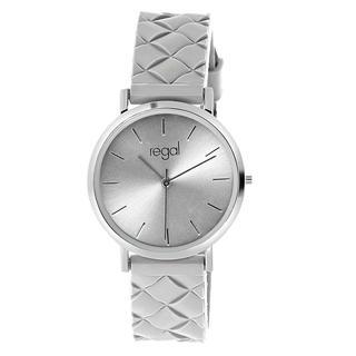horloge met een grijze rubberen band