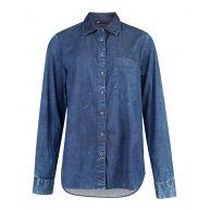 Dames regular fit denim blouse