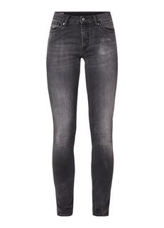 Juno mid rise slim fit jeans met stretch
