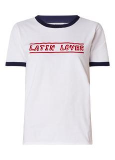 Enloco Latin Lover T-shirt met flockprint