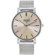 Regal - Regal mesh horloge Slimline beige