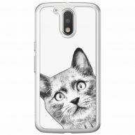 Motorola Moto G4 (Plus) siliconen telefoonhoesje - Kiekeboe kat