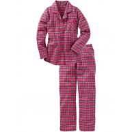 Dames pyjama lange mouw in pink - bpc bonprix collection