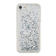 iPhone 8 / 7 telefoonhoesje - Glitter zilver