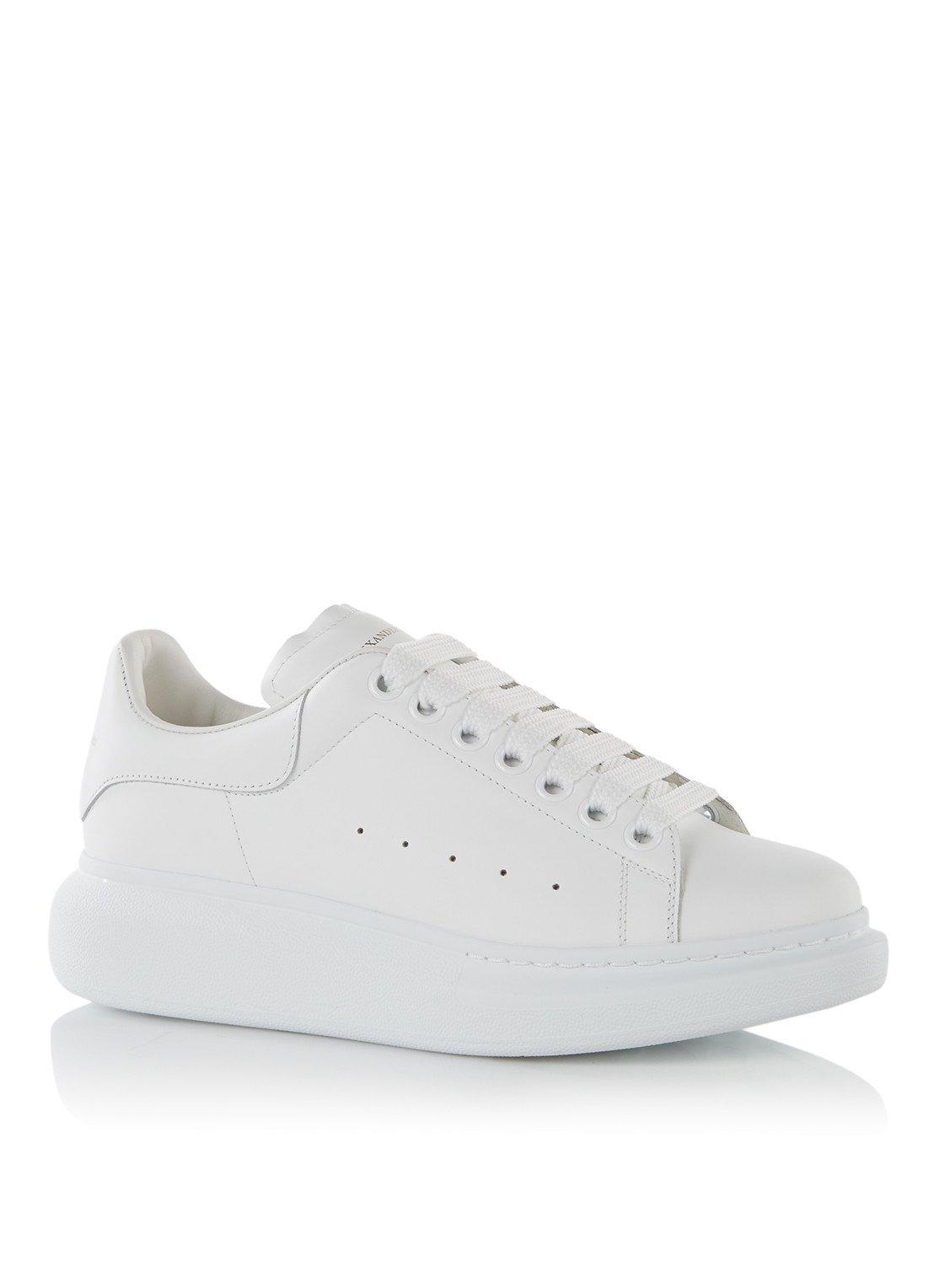 Mcqueen Kalfsleer Sneaker Van Oversized Alexander rtQCxhdBos