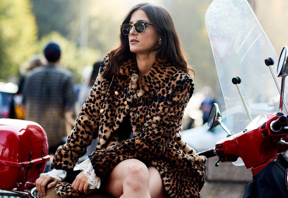 Fake fur leopard