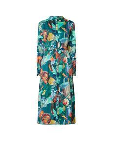Paradise maxi blousejurk met bloemendessin