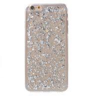 iPhone 6(s) Plus hoesje - Zilveren blaadjes transparant