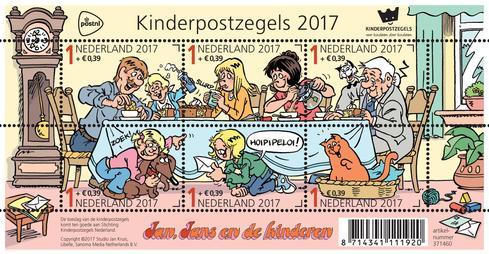 Libelle's Jan, Jans en de Kinderen op de Kinderpostzegels 2017