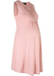 Dames zwangerschapsjurk zonder mouwen in roze