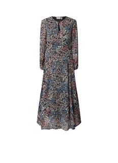 Lyla maxi-jurk van chiffon met bloemendessin