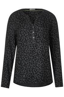 Leo-blouse in melange-stijl