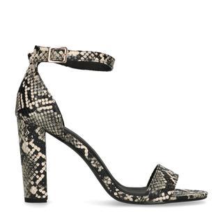 Snakeskin sandalen met hoge hak