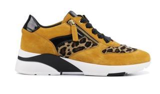 Dames Sneakers in Suede (Geel)