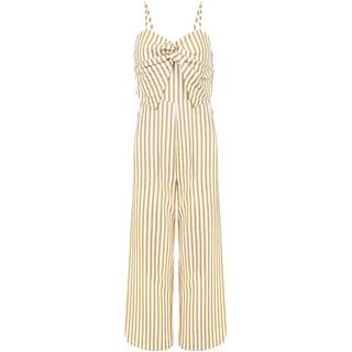 Striped Jumpsuit - Yellow