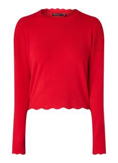 Pullover met geschulpte zoom