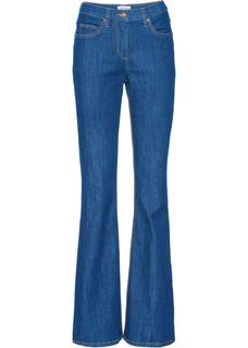 Dames stretchjeans bootcut in blauw