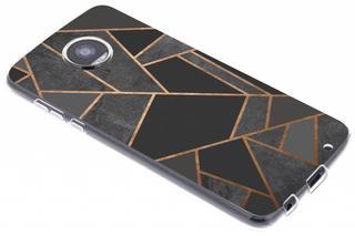 Design Backcover voor Motorola Moto Z2 Play - Grafisch Zwart / Koper