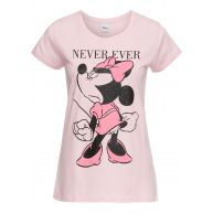 Dames shirt korte mouw in roze - Disney
