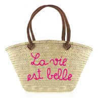 Beach Bag La Vie Est Belle - Purple