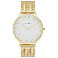 Cluse LA BOHÈME Horloge goldcoloured/white