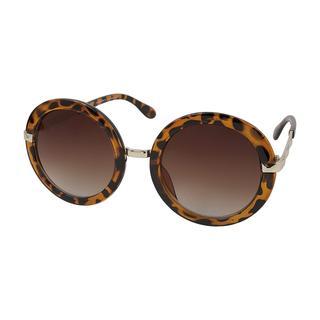 Montini zonnebril rond panterprint