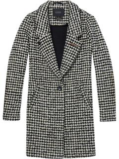 Bonded wool jacket in checks and so combo h
