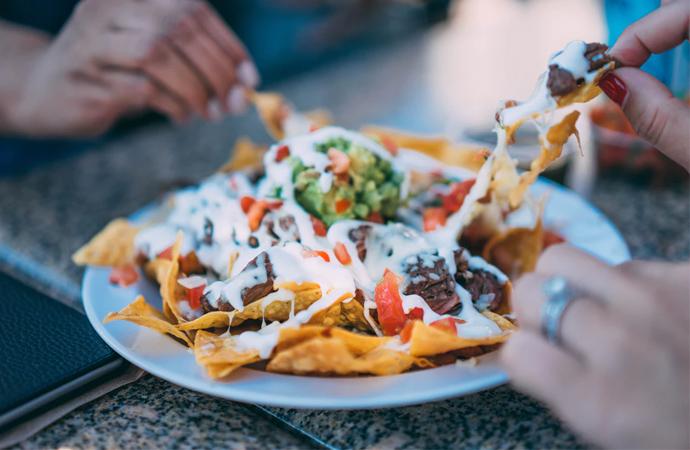 nachos, recept, kaas, uit oven