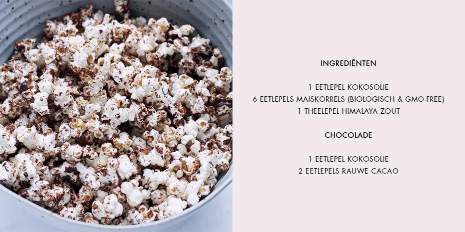 Chocolade popcorn