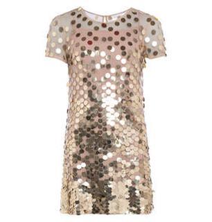 Mini jurk met ronde pailletten