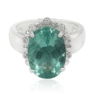 Zilveren ring met een Braldu Fluoriet