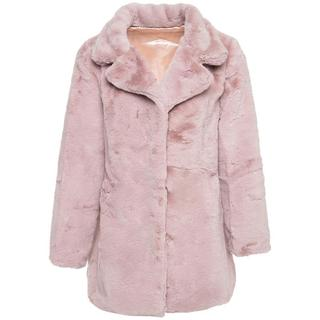 FURRY TEDDY COAT PINK