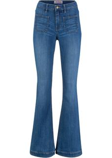 Dames stretch jeans in blauw