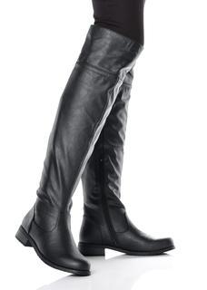 Dames overknee-laarzen in zwart