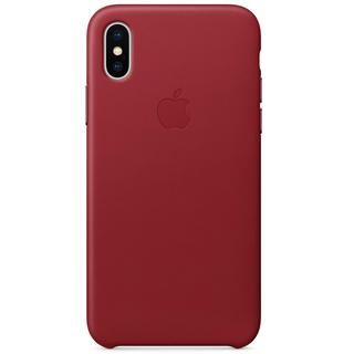 Leather Backcover voor de iPhone X / Xs - Red