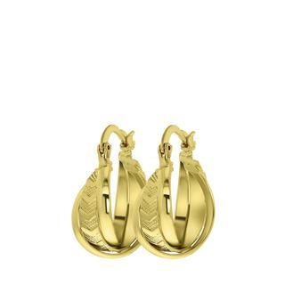 Goudkleurige byoux oorringen