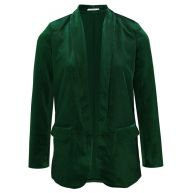 Velvet Blazer - Bottle Green