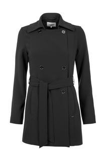 Dames Trenchcoat kort zwart