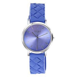 horloge met een blauwe rubberen band