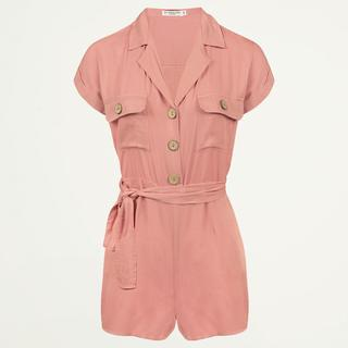 Roze overhemd playsuit