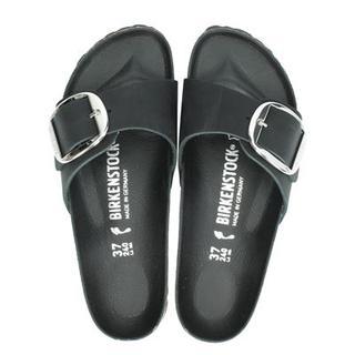 Madrid Big Buckle slippers zwart