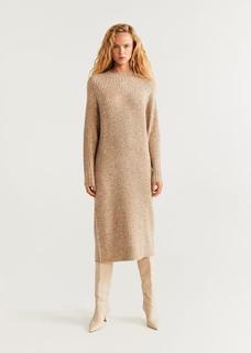 Tricot jurk ribdetails