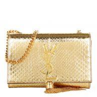 Saint Laurent Schoudertassen - Small Monogramme Tassel Clutch goud in goud voor dames