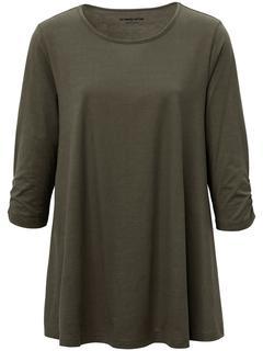 Lang shirt met 3/4-mouwen groen