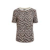 shirt met panterprint en plissé-effect