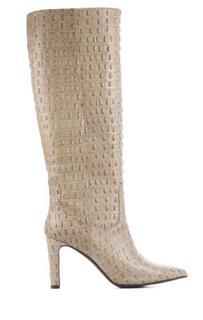 Dames Laarzen in Leder (Taupe)