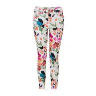 Miss Etam Regulier cropped slim fit broek met bloemen