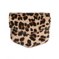 Dames leather leopard crossbody bag