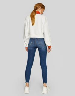 Jeans met superhoge taille Middenjeans