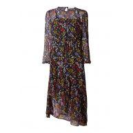 See By Chloé Midi-jurk van zijde met bloemendessin en lurex